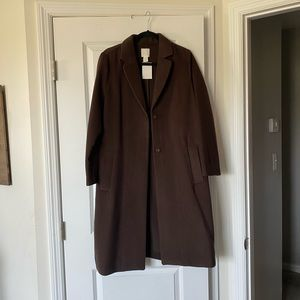 NWT H&M Long Brown Trench Coat